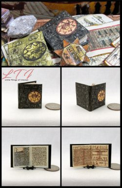 EGYPTIAN BOOK OF THE DEAD Miniature One Inch Scale Illustrated Book BK