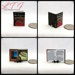 TO KILL A MOCKINGBIRD Miniature One Inch Scale Readable Book