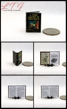 A Tree Grows in Brooklyn Miniature One Inch Scale Readable Book