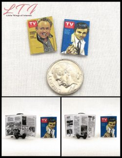 TV GUIDE MAGAZINES 2 Miniature One Inch Scale Magazines
