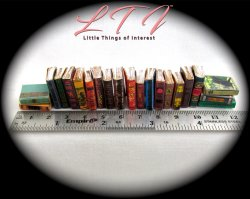 VINTAGE STYLE BOOKS Set of 21 Prop Books in Miniature One Inch Scale