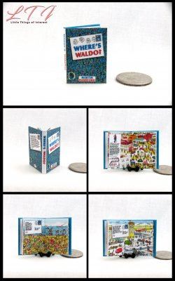 WHERE'S WALDO Miniature One Inch Scale Illustrated Childrens Puzzle Book