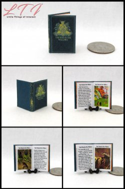 THE WIND IN THE WILLOWS Miniature One Inch Scale Illustrated Readable Book