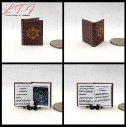 1st YEAR SCHOOL OF WITCHCRAFT AND WIZARDRY Textbooks Miniature One Inch Scale Readable Illustrated Books
