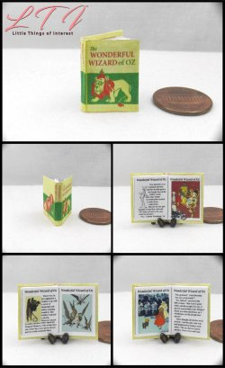 THE WONDERFUL WIZARD OF OZ Miniature One Inch Scale Readable Illustrated Book