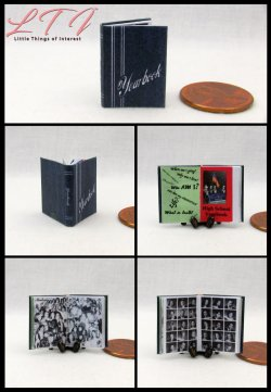 YEARBOOK High School Miniature Scale Illustrated Book