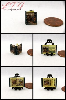 ABROAD Dollhouse Miniature Scale Illustrated Book