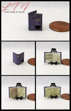 ADVANCED POTION MAKING Wizard School Textbook Miniature Half Inch Scale Illustrated Book