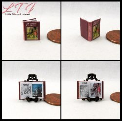 AESOP'S FABLES Dollhouse Miniature Half Inch Scale Illustrated Book
