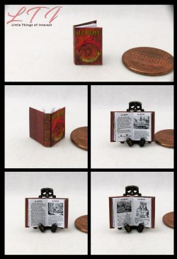 ALCHEMY Dollhouse Miniature Scale Illustrated Book
