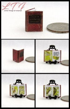 ATLAS Of AMERICAN HISTORY Dollhouse Miniature Scale Illustrated Book