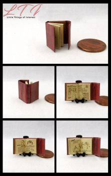 BOOK OF WESEN LORE Grimm Dollhouse Miniature Half Inch Scale Illustrated Book