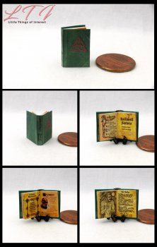 CHARMED BOOK Of SPELLS Dollhouse Miniature Half Inch Scale Illustrated Book