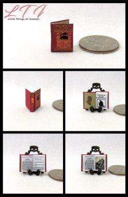 THE HOUND Of THE BASKERVILLES Sherlock Holmes Dollhouse Miniature Half Inch Scale Illustrated Book