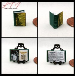 WUTHERING HEIGHTS Miniature Scale Illustrated Book