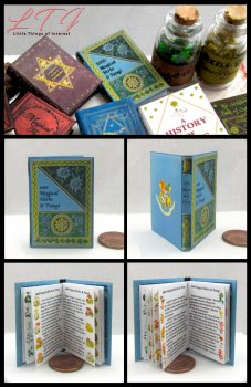 1000 MAGICAL HERBS AND FUNGI Magic Textbook Miniature Playscale Readable Illustrated Book