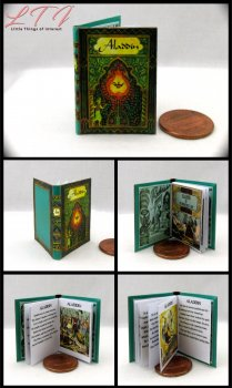 ALADDIN Miniature Playscale Readable Illustrated Book