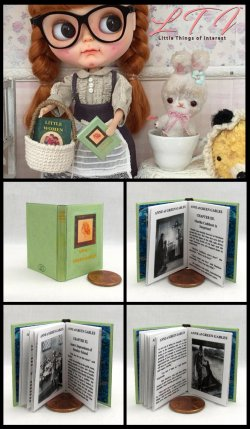 ANNE OF GREEN GABLES Miniature Playscale Readable Illustrated Book