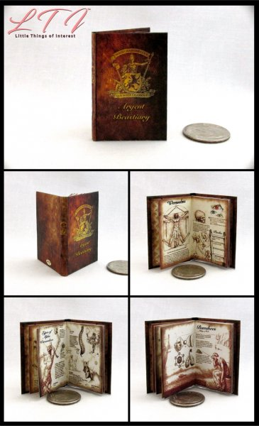ARGENT BESTIARY Miniature Playscale Readable Illustrated Book