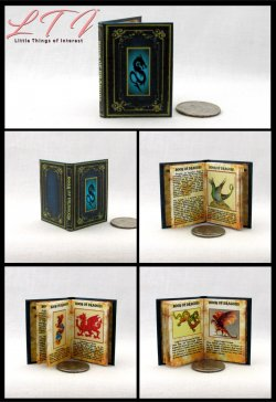 BOOK OF DRAGONS Miniature Playscale Readable Illustrated Book