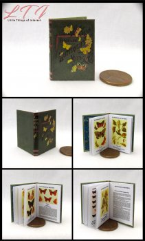 BUTTERFLIES AND MOTHS Miniature Playscale Readable Illustrated Book