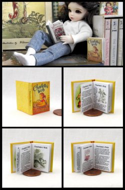 CHARLOTTE'S WEB Miniature Playscale Readable Illustrated Book