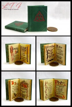 CHARMED BOOK OF SHADOWS Magic Book Miniature Playscale Readable Illustrated Book