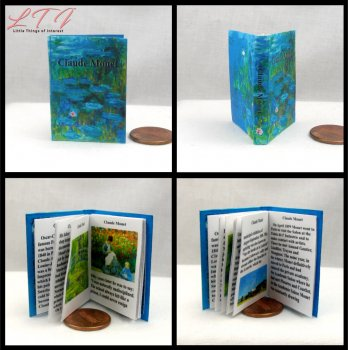 CLAUDE MONET Miniature Playscale Readable Illustrated Book