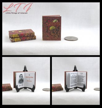 COMPLETE WORKS OF EDGAR ALLEN POE Miniature Playscale Readable Book