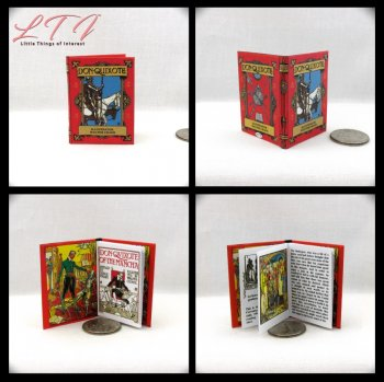 DON QUIXOTE Illustrated By Walter Crane Miniature Playscale Readable Illustrated Book