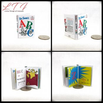 DR. SEUSS'S ABCS Miniature Playscale Readable Illustrated Book