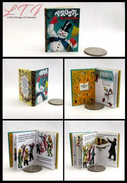 FROSTY THE SNOWMAN Miniature Playscale Readable Illustrated Book