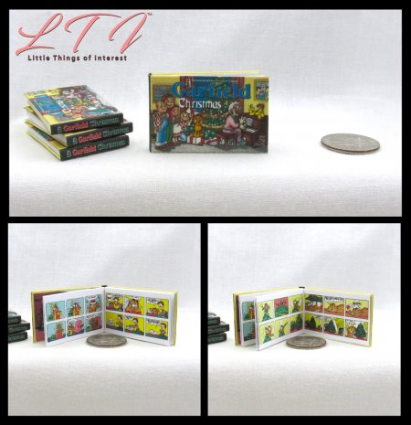 A GARFIELD CHRISTMAS Miniature Playscale Readable Illustrated Book