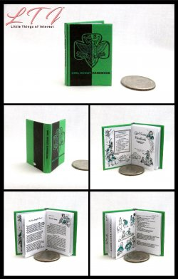 GIRL SCOUT HANDBOOK Miniature Playscale Readable Illustrated Book