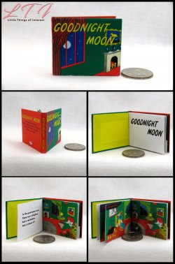 GOODNIGHT MOON Miniature Playscale Readable Illustrated Book
