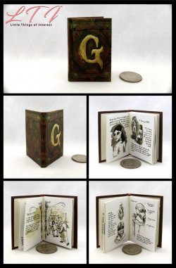GRIMM DIARY Miniature Playscale Readable Illustrated Book