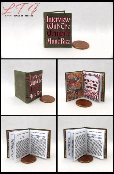 INTERVIEW WITH THE VAMPIRE Miniature Playscale Readable Illustrated Book