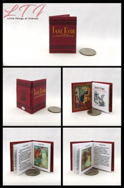 JANE EYRE by Charlotte Brontë Miniature Playscale Readable Illustrated Book