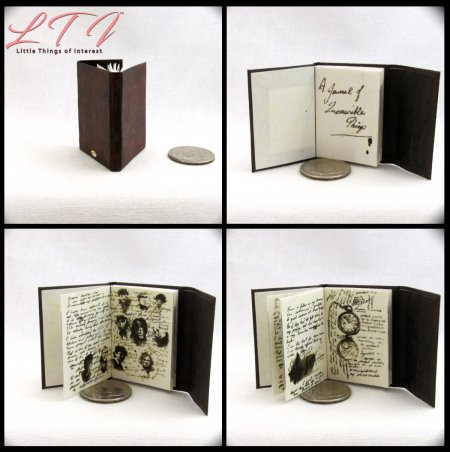 JOURNAL OF IMPOSSIBLE THINGS Miniature Playscale Readable Illustrated Book