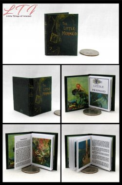 THE LITTLE MERMAID Miniature Playscale Readable Illustrated Book