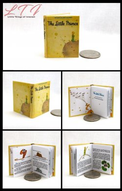 THE LITTLE PRINCE Miniature Playscale Readable Illustrated Book