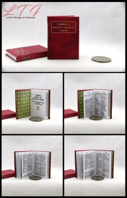 MEDICAL DICTIONARY Miniature Playscale Readable Illustrated Book