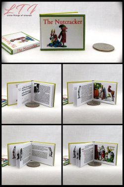 THE NUTCRACKER Miniature Playscale Readable Illustrated Book