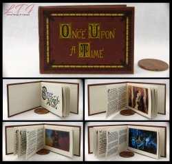 ONCE UPON A TIME Miniature Playscale Readable Illustrated Book