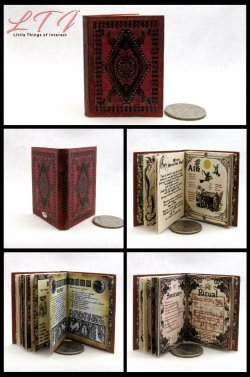 PRACTICAL MAGIC SPELL BOOK Miniature Playscale Readable Illustrated Book