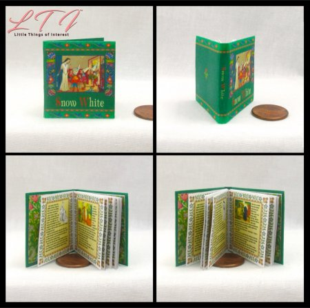 ILLUSTRATED SNOW WHITE Miniature Playscale Readable Illustrated Book