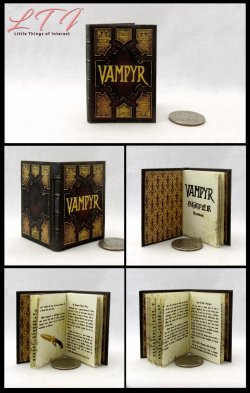 THE VAMPYR SLAYERS HANDBOOK Miniature Playscale Readable Illustrated Book Vampire