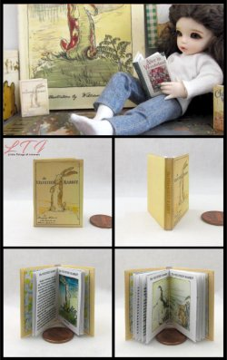 THE VELVETEEN RABBIT Miniature Playscale Readable Illustrated Book
