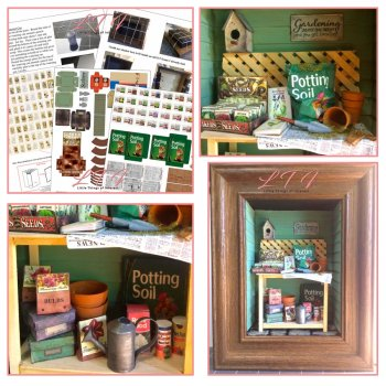GARDEN WORKTABLE POTTING BENCH in Miniature One Inch Scale Tutorial Instructions Pdf Download