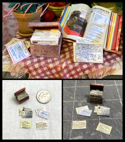 GRANDMAS RECIPE BOX in Miniature One Inch Scale Tutorial PDF Download
